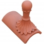 Ball crest segmental finial
