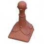 Block end 4 leaf ball ridge finial