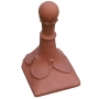 Block end 8 leaf ball ridge finial