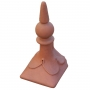 Block end spike ball ridge finial