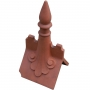 Castle scrolled spike finial