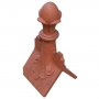 Castle scrolled large 4 leaf ball finial