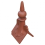 Castle scrolled spike ball finial