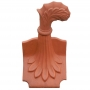 Column curved leaf ridge finial