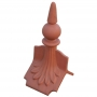 Column spike ball ridge finial