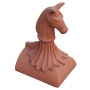 Half round horse block end finial