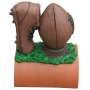 Handpainted rugby finial