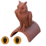 Owl finial colour eyes special