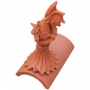 Sabre roof dragon segmental finial