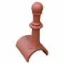 Tall half round 8 leaf ball finial