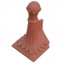 Angled block end old ball finial