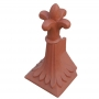 Angled block end old fleur finial