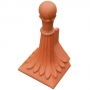 Block end ball top 8 leaf finial