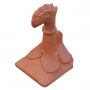 Block end curved leaf ridge finial
