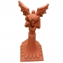 Block end gargoyle crest finial