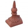 Block end half round spike ball finial