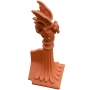 Block end mini dragon crest finial