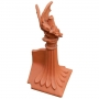 Block end sabre dragon finial crest