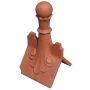 Castle scrolled 8 leaf ball finial