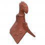 Castle scrolled curved leaf finial