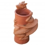 Chimney pot dragon two tone terracotta
