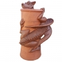 Chimney pot dragon two tone glaze