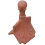 Column ball 4 leaf finial