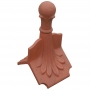 Column ball 4 leaf roof finial