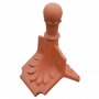 Column ball 8 leaf ridge finial