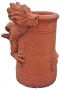 Dragon chimney pot terracotta left