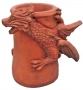 Dragon chimney pot terracotta right