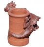 Dragon chimney pot two tone glaze