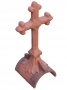 Half round cross finial
