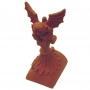 Half round gargoyle block end finial