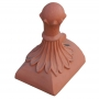 Half round old ball block end finial