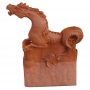 Poseidon sea horse roof finial