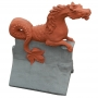 Poseidon sea horse two tone roof finial