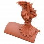 Ridgeback roof dragon segmental finial