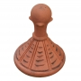 Round 4 leaf ball roof finial