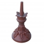 Round crown leaf roof finial