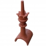Tall half round crown finial