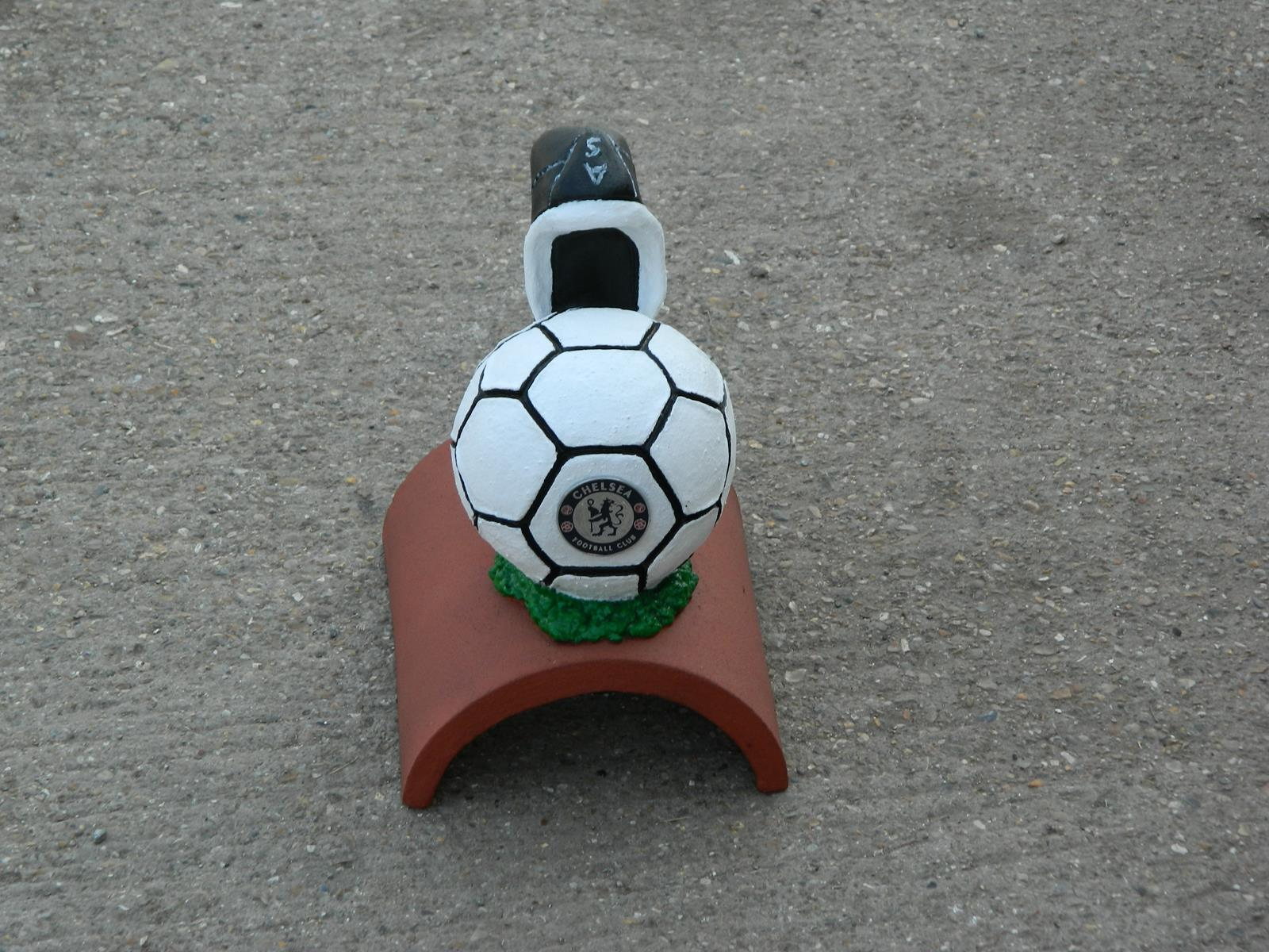 Chelsea handpainted football finial