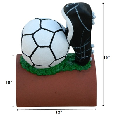 handpainted football finial measurements