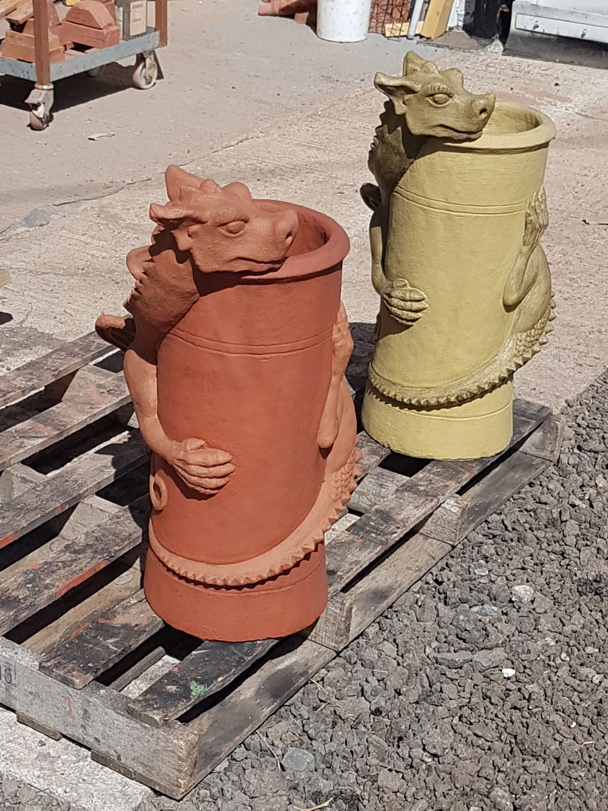 Dragon Pots Terracotta And Bathstone